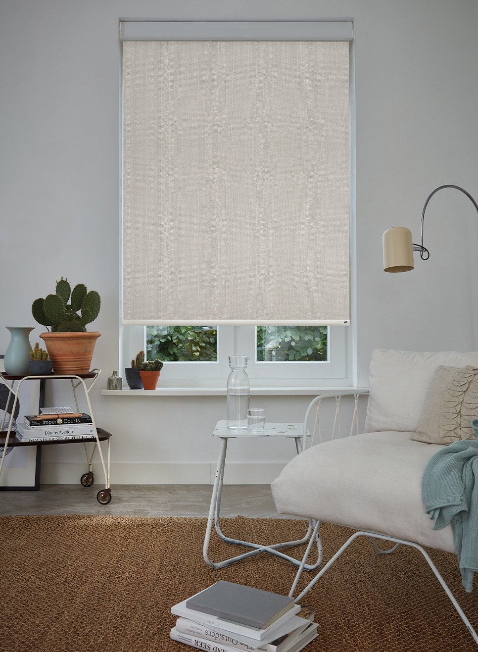 New Aria Light Filtering Roller Blind Fabric In New York Grey Colour